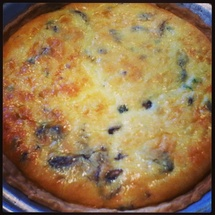 Mushroom Quiche photo by Jodie